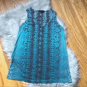 Kenneth Cole Teal Tank Top Size Small